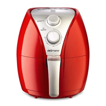 Friteuza cu aer cald DELIMANO Air Fryer RED